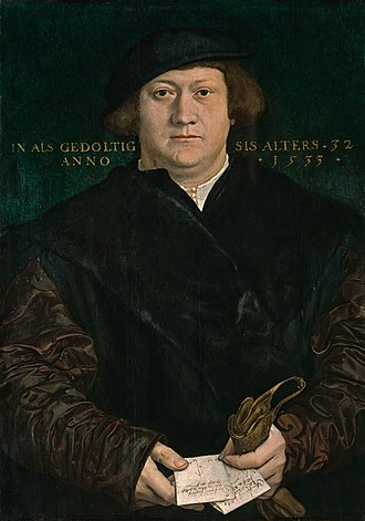 Herzog Anton Ulrich Museum - Image: Portrait of Cyriacus Kale, by Hans Holbein the Younger