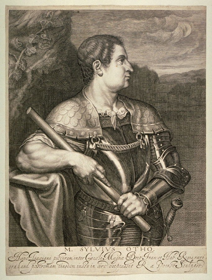 Portrait of M. Silvius Otho, Roman Emperor by Robert Van Voerst after Tiziano Vecellio