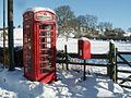 Postbox and Telephone box, Old Bolingbroke - geograph.org.uk - 583199.jpg