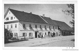 Škofljica - Image: Postcard of Škofljica