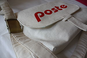 Mail satchel - Typical canvas mail satchel