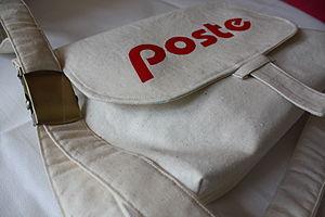 Mail satchel - Typical canvas mail satchel