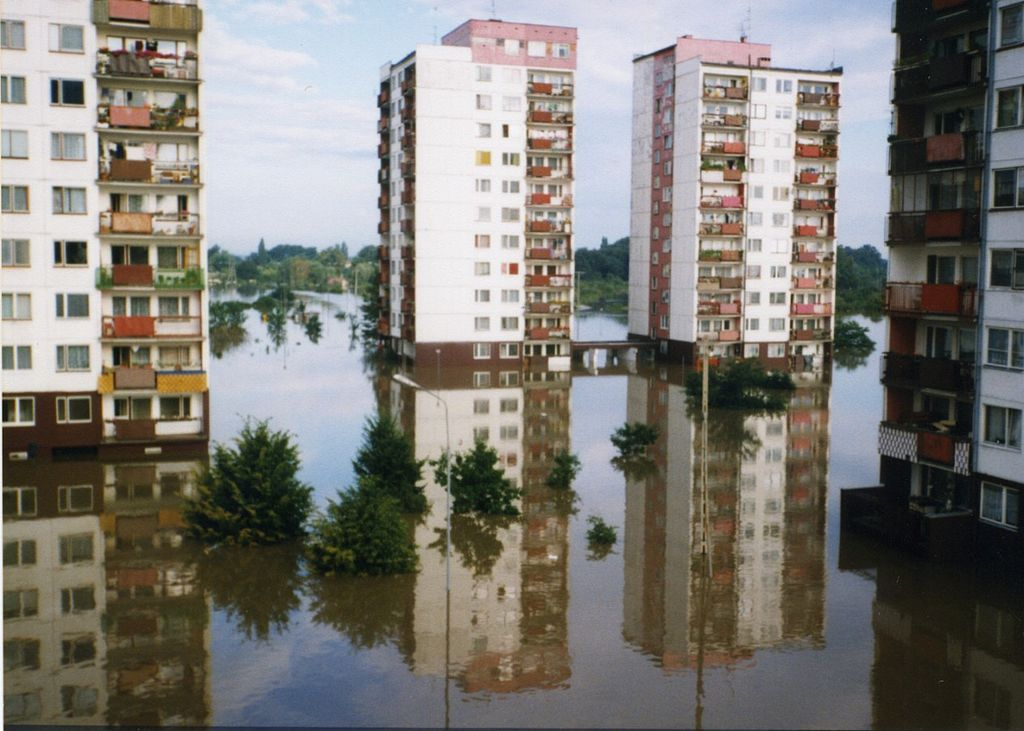 Inondation de Wroclaw en 1997. Photo de J.M.K. Kokot.