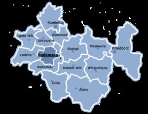 Radomsko County - Image: Powiat radomszczański