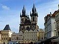 Prag - Prag - Kirche der Jungfrau Maria vor dem Tein -Týnský Chrám in Czech - panoramio.jpg