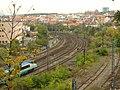 Praha, Vinohrady, Nuselské schody, Pendolino a železniční trať k Hostivaři.jpg
