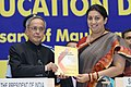 Pranab Mukherjee releasing the 'Document for Credit Framework' at the National Education Day 2014 function to commemorate the birth anniversary of Maulana Abul Kalam Azad.jpg