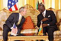 President Bush and President Kufuor at Osu Castle, 2008.jpg