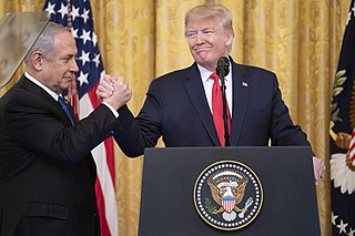 Trump peace plan Israel-Palestine peace proposal in 2020 by Trump administration