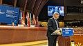 President Tsereteli addressing the European Conference of Presidents of Parliament, Strasbourg, 23 October 2019 (48957122126).jpg