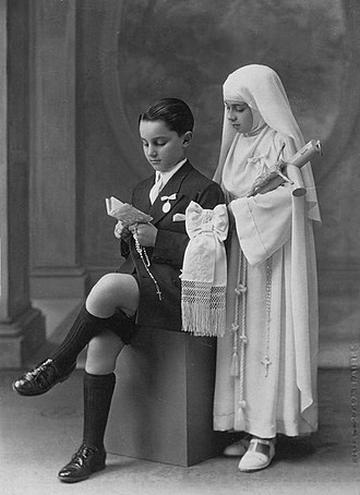 First Communion - Image: Primera comunion ninos