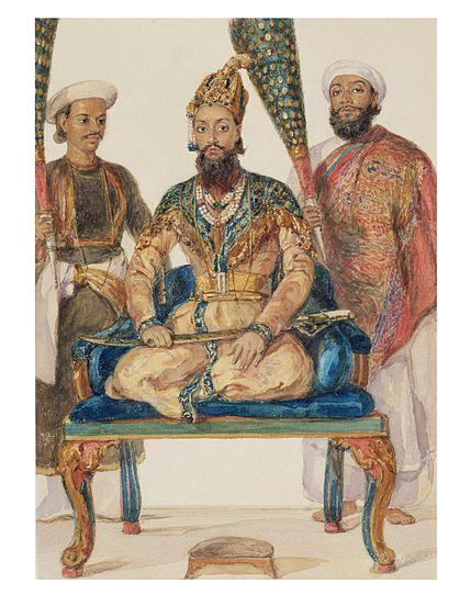 File:Prince Fakhr-ud Din Mirza, eldest son of Bahadur Shah II, 1856.jpg