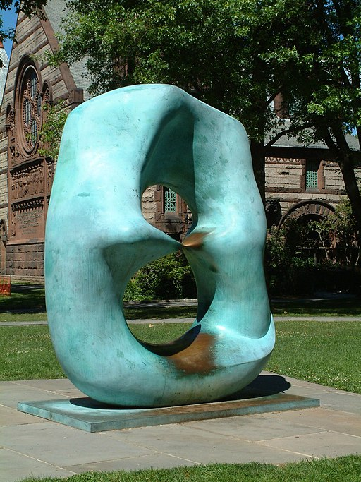 """Oval with Points"" by Henry Moore"