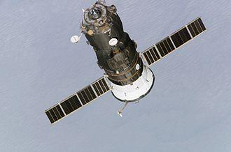 Progress M1-10 - Progress M1-10 departing the ISS