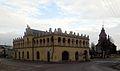 Przystajń, kościół par. pw. św. Trojcy wraz z ratuszem.JPG