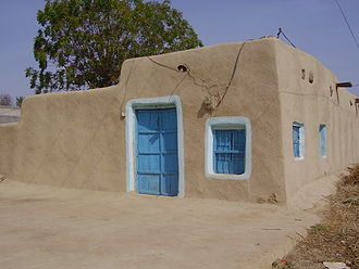 Mud - Mud plastered home in Pakistan
