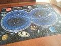 Puzzle 1500 elementów firmy Ravensburger planety układu słonecznego i sfery niebieskie - maj 2021.jpg