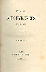 Title page of 1880 edition of Taine's Voyage aux Pyrénées, first published in 1855.