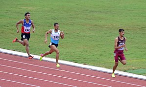 Jamal Hairane - Jamal Hairane Wins the Men's 1500m First Round Race  Ahead Of India's Siddhantha Adikari And Thailand's Yothin Yaprajan