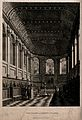 Queen's College, Oxford; interior of chapel. Aquatint. Wellcome V0014157.jpg
