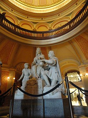 California State Capitol - Statue of Queen Isabella and Columbus commemorating her decision to finance a voyage to the New World