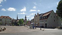 Röthaer Marktplatz im Mai 2018