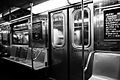 R62 subway car interior black and white.jpg