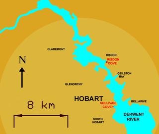 Risdon Cove cove near Hobart, Tasmania, Australia