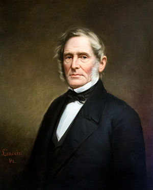 Elisha Harris - Official State House portrait by James Sullivan Lincoln
