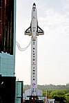 RLV-TD HEX01 at First Launch Pad of Satish Dhawan Space Centre, Sriharikota (SDSC SHAR) before launch 03.jpg