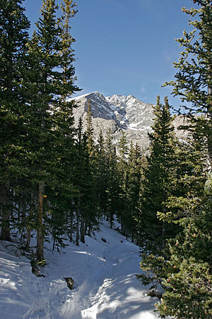 Ypsilon Mountain - Image: RMNP Ypsilon Lake Trail