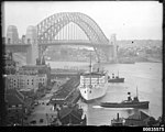 RMS STRATHNAVER alongside the wharf in west Circular Quay (7736995684).jpg