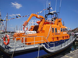 RNLI lifeboats Eric and Susan Hiscock Wanderer during Yarmouth Old Gaffers Festival 2011.JPG