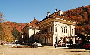 Sinaia railway station - View of the station building