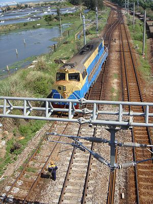 Hainan Western Ring Railway - Image: Railway between Haikou Railway Station and South Port 04