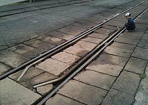 Guard rails (rail) - Guard rails at Dieu Tri station, Vietnam.