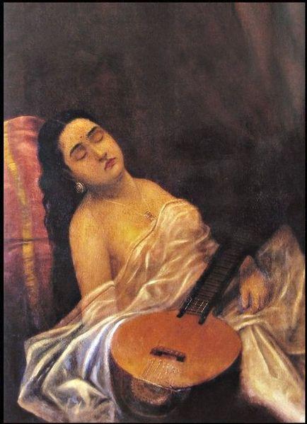 File:Raja Ravi Varma, Sleeping Beauty.jpg