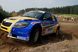 Per-Gunnar Andersson (rally driver) - Andersson at 2010 Rally Finland with Škoda Fabia S2000