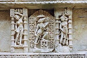 Rani ki vav - Vishnu sculpture inside Rani ki Vav
