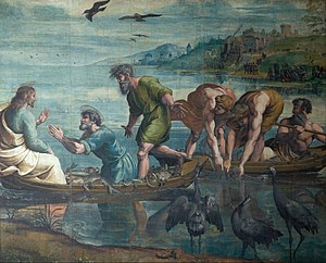 Royal Collection - Raphael Cartoons, The Miraculous Draught of Fishes, c. 1515, on loan to the Victoria and Albert Museum since the 19th century