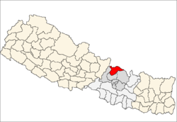 map of Rasuwa, Nepal