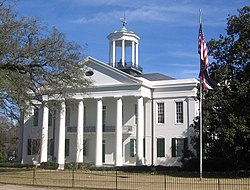 Hinds County courthouse in Raymond