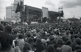 Return to Base - In 1980, the band performed at Reading Festival (pictured in 1974), reviving their career.