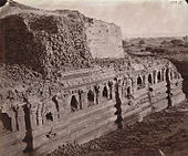 Rear View (2) of Baladitya Temple, Nalanda, by Joseph Beglar, 1872.jpg