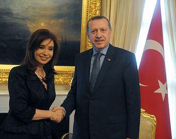 Recep Tayyip Erdogan and Cristina Kirchner in Turkey 1