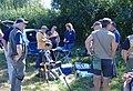 Recording at the Corfe Castle rally for the One Show.jpg