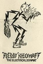 Image Of Reddy Kilowatt, 1933: U.S. Trademark 302,093