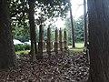 Regimented row of graves, Hungars Church.jpg