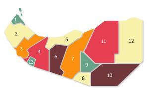 Somaliland Police - Image: Regions of Somaliland