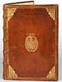 Reliure en veau blond aux armes du cardinal Charles de Lorraine, évêque de Metz (Rés. 546).jpg
